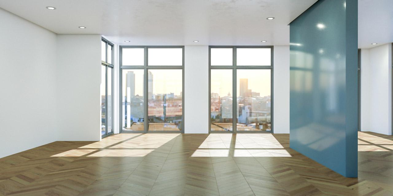 Moderner Wohnraum mit Aussicht
