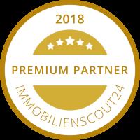 Immobilien Scout 24 Premium Partner 2018 Siegel