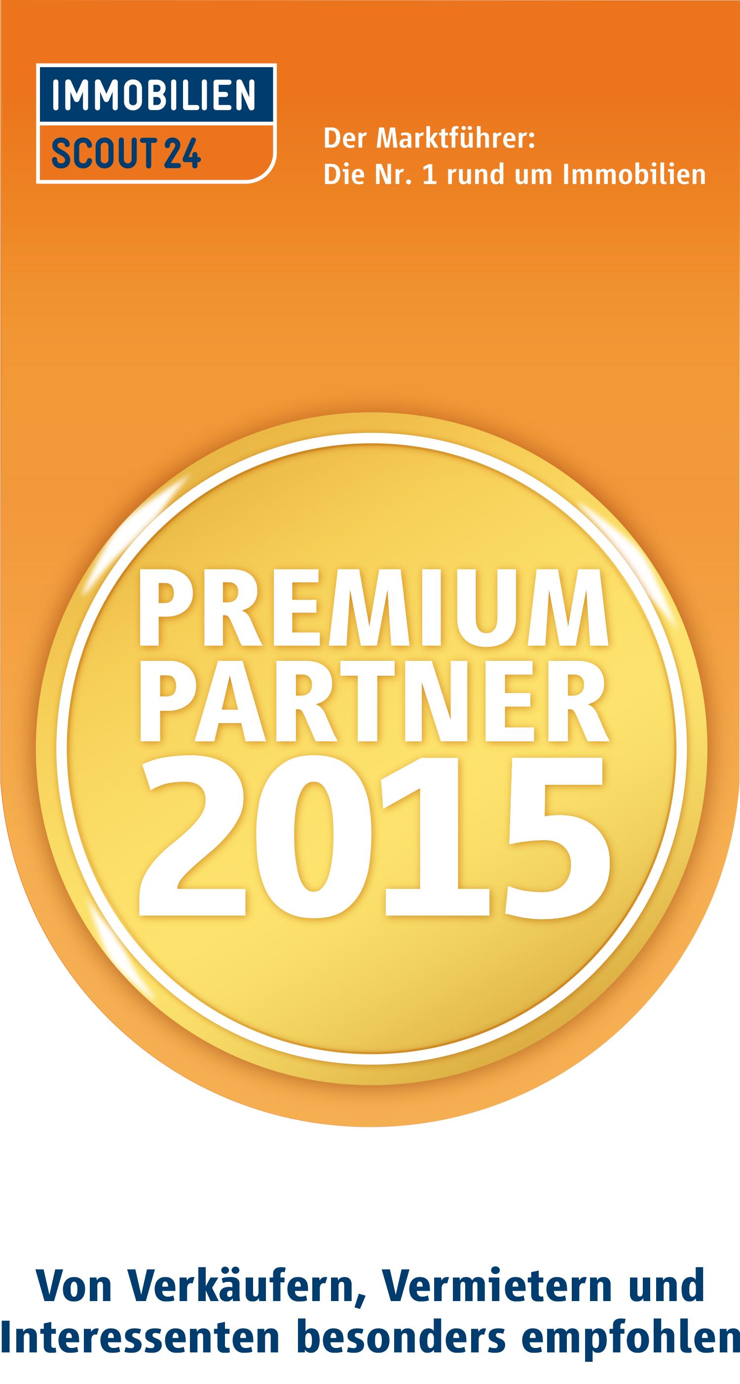 Immobilien Scout 24 Premium Partner 2015 Siegel