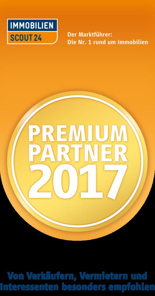 Immobilien Scout 24 Premium Partner 2017 Siegel